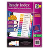 Avery Ready Index Contemporary Contents Divider, 1-12, Multicolor, Letter, 6 Sets/PK