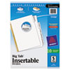 Avery WorkSaver Big Tab Dividers, Clear Tabs, 5-Tab, Letter, White, 1/Set