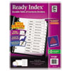 Avery Ready Index Classic Tab Titles, 12-Tab, Jan-Dec, Letter, Black/White, 12/Set