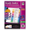 Avery Ready Index Customizable Table of Contents Multicolor Dividers, 15-Tab, Letter