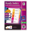 Avery Ready Index Contemporary Table of Contents Divider, 1-5, Multi, Letter