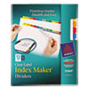Index Maker Dividers, Multicolor 12-Tab, Letter