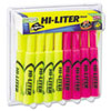 HI-LITER Desk Style Highlighter, Assorted Ink, Chisel, 24 per Pack