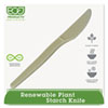 Eco-Products Plant Starch Knife, Cream, 50/Pack