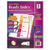 Avery Extra-Wide Ready Index Dividers, 5-Tab, 9 1/2 x 11, Assorted, 5/Set