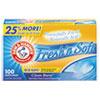 Arm & Hammer Fresh 'n Soft Dryer Sheets, Fresh Burst, 100 Sheets/Box, 6 Box/Carton