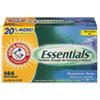 Arm & Hammer Essentials Dryer Sheets, Mountain Rain, 144 Sheets/Box, 6 Boxes/Carton