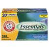 Arm & Hammer Essentials Dryer Sheets, Mountain Rain, 144 Sheets/Box, 6 Boxes/Carton