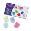 Fabric Panel Wall Clips, Standard Size, Assorted Cool Colors, 20/Box
