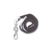"Deluxe Safety Lanyards, J-Hook Style, 36"" Long, Black, 24/Box"