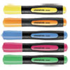 Universal One Desk Highlighter w/Comfort Grip, Chisel Tip, 5/Set