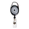 Advantus Carabiner-Style Retractable ID Card Reel, 30