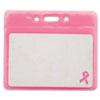Advantus Breast Cancer Awareness Badge Holder, Horizontal, 3 1/2