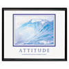 &quot;Attitude/Waves&quot; Framed Motivational Print, 30 x 24