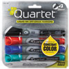 Quartet EnduraGlide Dry Erase Marker, Chisel Tip, Assorted Colors, 4/Set