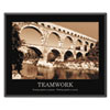 &quot;Teamwork&quot; Framed Sepia-Tone Motivational Print, 30 x 24
