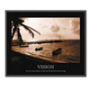 &quot;Vision&quot; Framed Sepia-Tone Motivational Print, 30 x 24