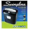 Swingline EX10-05 Super Cross-Cut Shredder, 10 Sheets, 1 User