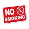Advantus Economy No Smoking Wall Sign, Plastic, 12 x 8, Red