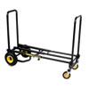 Advantus Multi Cart 8-in-1 Equipment Cart, 500lb Capacity, 18 x 33-1/2 x 42-1/2, Black