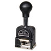 Bates Royall Economy Numbering Machine, Six Wheels, Pre-Inked/Re-Inkable, Black