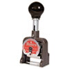 Bates Multiple Movement Numbering Machine, Six Wheels, Re-Inkable, Size E, Black