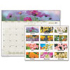 AT-A-GLANCE Floral Panoramic Desk Pad, 22 x 17, Floral, 2015