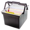 Advantus Companion Portable File Storage Box, Legal/Letter, Plastic, Black