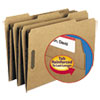 Smead 11 Point Kraft Folders, Two Fasteners, 1/3 Cut Top Tab, Legal, Brown, 50/Box