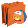 Smead Folders, Two Fasteners, 1/3 Cut Assorted Top Tabs, Letter, Orange, 50/Box
