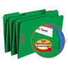 Smead Folders, Two Fasteners, 1/3 Cut Assorted Top Tab, Legal, Green, 50/Box