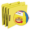 Smead Folders, Two Fasteners, 1/3 Cut Assorted Top Tab, Letter, Yellow, 50/Box