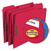 Smead Folders, Two Fasteners, 1/3 Cut Assorted, Top Tab, Letter, Red, 50/Box