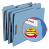 Smead Folders, Two Fasteners, 1/3 Cut Assorted Top Tab, Letter, Blue, 50/Box