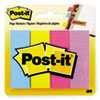 Post-it Page Markers, Ultra Colors, 50 Strips/Pad, 4 Pads/Pack