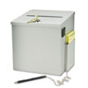 Recycled Steel Suggestion Box with Locking Top, 8 1/2 x 8 x 9 3/4, Platinum
