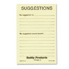 Buddy Products Suggestion Box Cards, 4 x 6, Yellow, 50 Cards/Pack