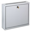Wall-Mountable Interoffice Mailbox, 12w x 3d x 10h, Platinum