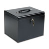 Buddy Products Personal File Storage Box, Letter, Textured Steel, Black