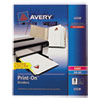 Avery Print-On Dividers, 8-Tab, 3-Hole Punched, 8-1/2 x 11, White, 1/Pack