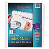 Avery Index Maker Extra-Wide Clear Label Dividers, 5-Tab, 11 1/4 x 9 1/4, 5 Sets