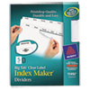 Index Maker with Big Tab, 11x8-1/2, 5-Tab, White, 5 Sets/Pack