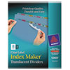 Index Maker Clear Label Punched Dividers, Multicolor 8-Tab, Letter, 5 Sets