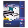Avery Print-On Dividers, 8-Tab, Unpunched, 8-1/2 x 11, White, 5 Sets/Pack