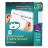 Avery Index Maker with Big Tab, 11x8-1/2, 8-Tab, White, 5 Sets/Pack