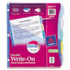 Avery Multicolor Write-On Big Tab Dividers W/ Pocket, 5-Tab, Letter, 1 Set
