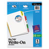 Avery Big Tab Write-On Dividers w/Erasable Laminated Tabs, Clear, 5/Set
