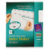 Index Maker with Big Tab, 11x8-1/2, 5-Tab, White