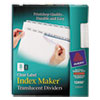 Index Maker Clear Label Punched Dividers, Clear 8-Tab, Letter, 5 Sets