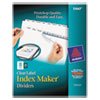 Avery Index Maker Clear Label Dividers, 8-Tab, Letter, White, 25 Sets